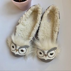 Kate Spade owl slippers